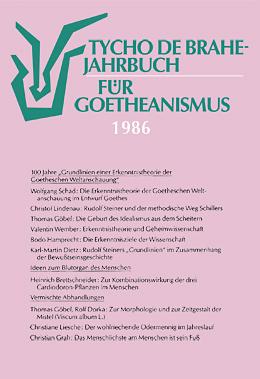 Jahrbuch für Goetheanismus 1986