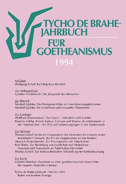 Jahrbuch für Goetheanismus 1994