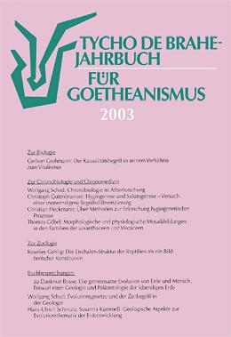 Jahrbuch für Geotheanismus 2003